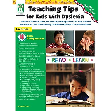 Key Education Publishing Teaching Tips For Kids With Dyslexia Resource Book, Grades PreK - 5
