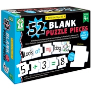 Key Education Publishing Write - On/Wipe - Off: 52 Blank Puzzle Piece Manipulative, Grades PreK - 1