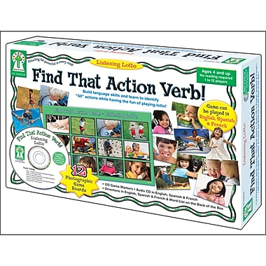Key Education Publishing® Listening Lotto Find That Action Verb! Board Game, Preschool -1 (KE-846048)