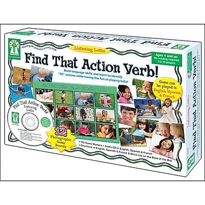 Carson-Dellosa Find That Action Verb Board Game
