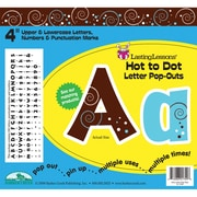 """Barker Creek® Lasting Lessons® 4"""" Letter Pop-Out, Hot To Dot"""