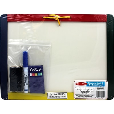 Melissa & Doug® Magnetic Chalkboard and Dry Erase Board