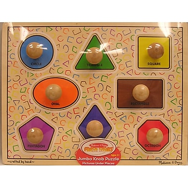 Melissa & Doug First Shapes Jumbo Knob Puzzle (LCI2053)