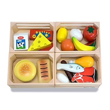 Melissa & Doug® Food Groups Wooden Play Food Set