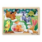 Melissa & Doug® Wooden Jigsaw Puzzles, Playful Pets