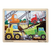 Melissa & Doug® Wooden Jigsaw Puzzles, Construction Site