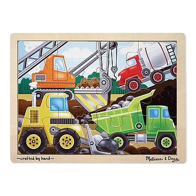 Melissa & Doug® Wooden Jigsaw Puzzles, Construction Site