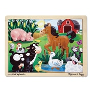 Melissa & Doug® Wooden Jigsaw Puzzles, On the Farm