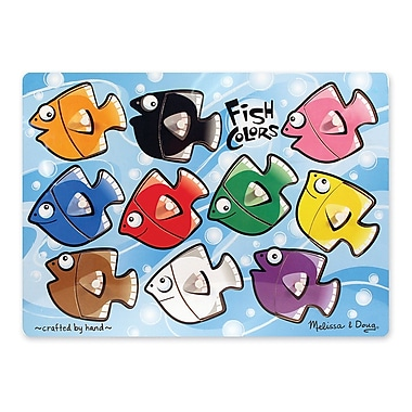 Melissa & Doug Fish Colours Mix 'N Match Peg Puzzle (LCI3268)