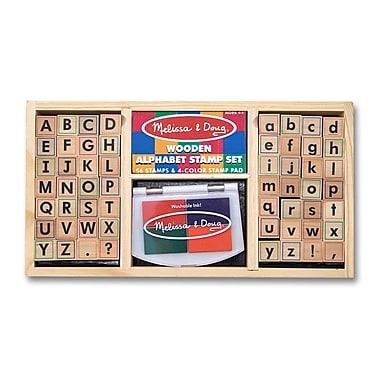 Melissa & Doug Alphabet Stamp Set (LCI3557)