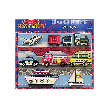 Melissa & Doug® Vehicles Chunky Puzzle (LCI3725)