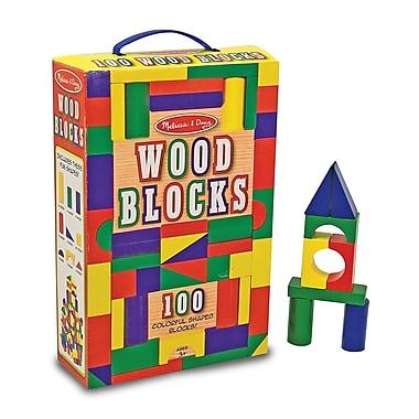 Melissa & DougMD – Ensemble de blocs de construction en bois, 100 pièces
