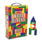 Melissa & Doug® 100 Piece Wooden Building Block Set