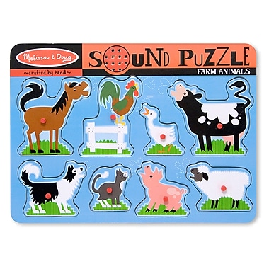 Melissa & Doug Farm Animals Sound Puzzle (LCI726)