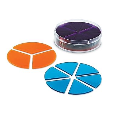 Learning Resources® Rainbow Fraction® Transparent Deluxe Circles Set, Grades K - 9