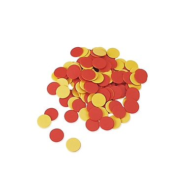 Learning Resources Plastic Two - Color Counter Set, Red/Yellow, Grades K - 4, 400/Pack (LER7566)
