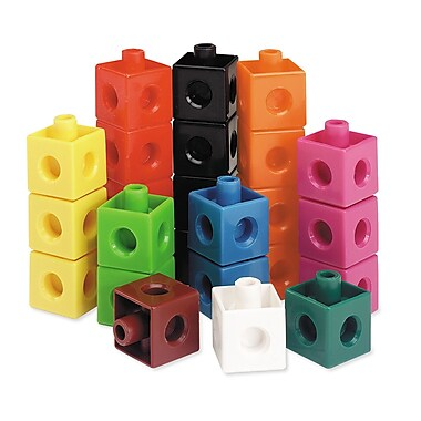 Learning Resources® - Ensemble de cubes emboîtables en plastique, maternelle+