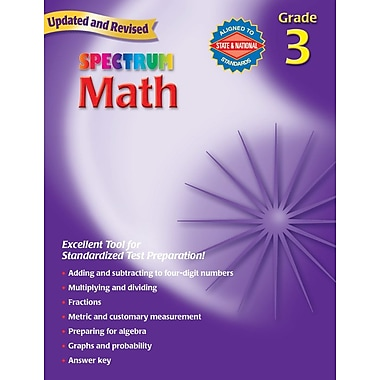 Carson Dellosa Spectrum Math Workbook, Grade 3 (CD-704563)