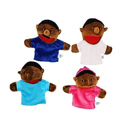 Get Ready Kids® African American Family Bigmouth Puppet, 4/Set (MTB360)