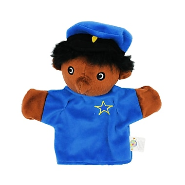 Get Ready Kids African American Machine Washable Police Officer Puppet (MTB456)