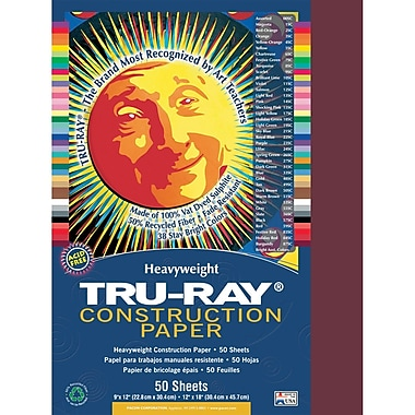 Pacon® Tru-Ray® Sulphite Construction Paper, Burgundy, 12