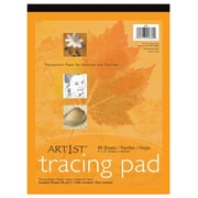 """Pacon® Art1st® 9"""" x 12"""" Tracing Pad, Transparent, 40 Sheets"""