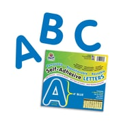 "Self-Adhesive Letters, 4"", 78 Characters, Blue"
