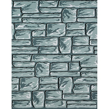 Pacon – Papier Fadeless très résistant à la décoloration, 48 po x 12 pi, briques de pierre, rouleau (PAC56498)