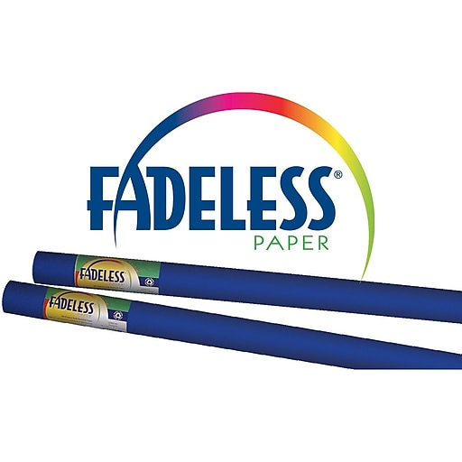 """Pacon® Fadeless® 48"""" x 12' Ultra Fade-Resistant Bulletin Board Paper, Royal Blue"""