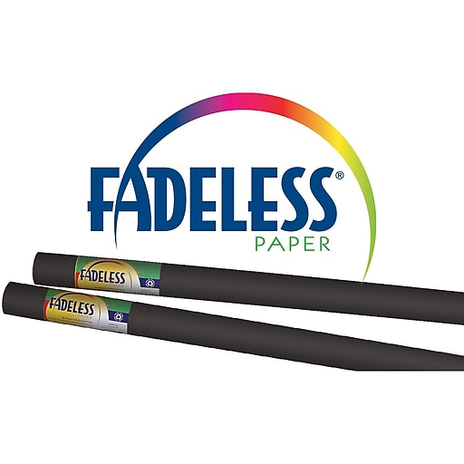 "Pacon® Fadeless® 48"" x 12' Ultra Fade-Resistant Bulletin Board Paper, Black"