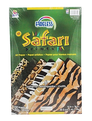 Pacon® Fadeless Embossed Safari Prints