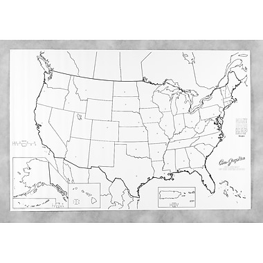 Pacon Corporation Learning Walls Us Map (PAC78760)