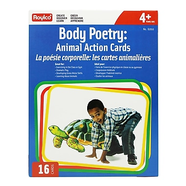 Roylco® Body Poetry Animal Action Cards Set (R-62010)