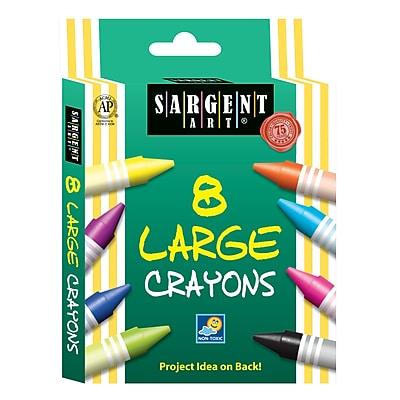 Sargent Art® 8 Piece Jumbo Tuck Box Crayons