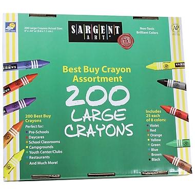Sargent Art 200 Large Crayons (SAR553225)