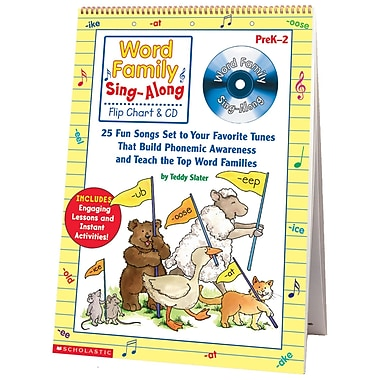 Scholastic Teaching Resources Word Family Sing Along Flip Chart & CD, Grade PreK - 2 (SC-0439456703)