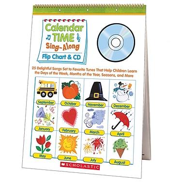 Scholastic Calendar Time Sing Along Flip Chart & Cd (SC-0439694957)