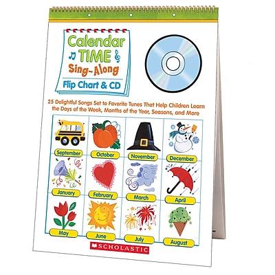 Scholastic Flip Chart & CD, Calendar Time