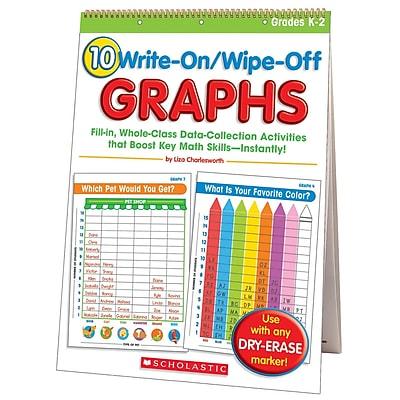 Scholastic® 10 Write-On/Wipe-Off Graphs Flip Chart, Math