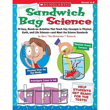 Scholastic® Sandwich Bag Science Activity Book, Grades 4 - 8