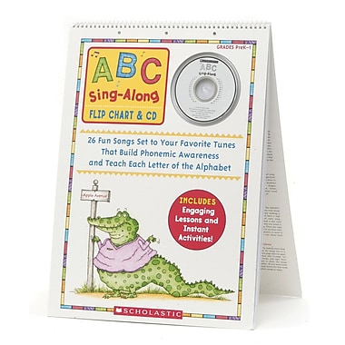 Scholastic® Abc Sing Along Flip Chart With Cd, Language Arts