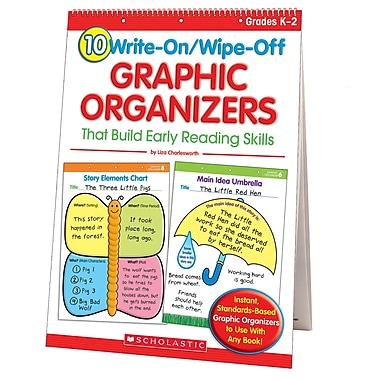 Scholastic Teaching Resources 10 Write-On/Wipe-Off Graphic Organizers Book, Grade K - 2 (SC-0439827736)