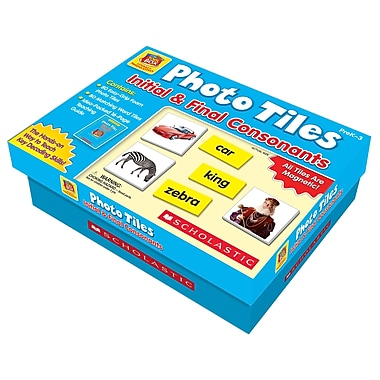 Scholastic® Initial & Final Consonants Photo Tiles, Language Arts/Reading