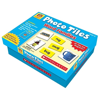 Scholastic Little Red Toolbox Literacy Manipulatives, Photo Tiles, Word Families