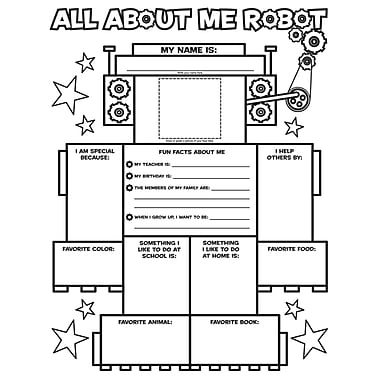 Scholastic All About-Me Robot Graphic Organizer Posters, Grade K - 2 (SC-054501462X)