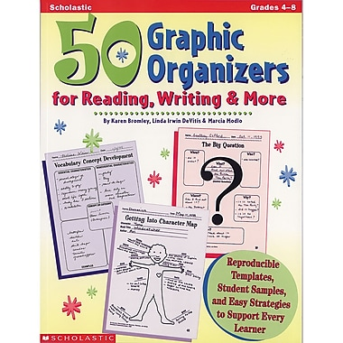 Scholastic Teaching Resources 50 Graphic Organizers For Reading, Writing & More Professional Book, Grade 4 - 8 (SC-0590004840)