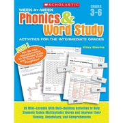 "Scholastic® ""Week-by-Week Phonics & Word Study"" Activity Book, Language Arts/Reading"