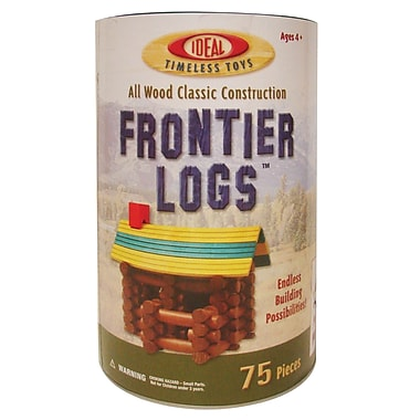 Infinitoy Ideal Timeless Toys 75 Piece Frontier Logs (SLT075L)