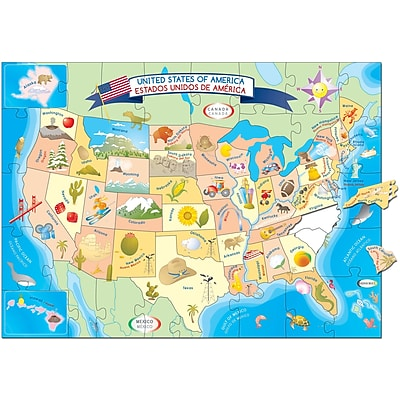 Smart Play™ USA Map Puzzle