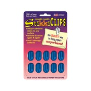 The Stikkiworks Co Stikkiclip, Blue, 10/Pack